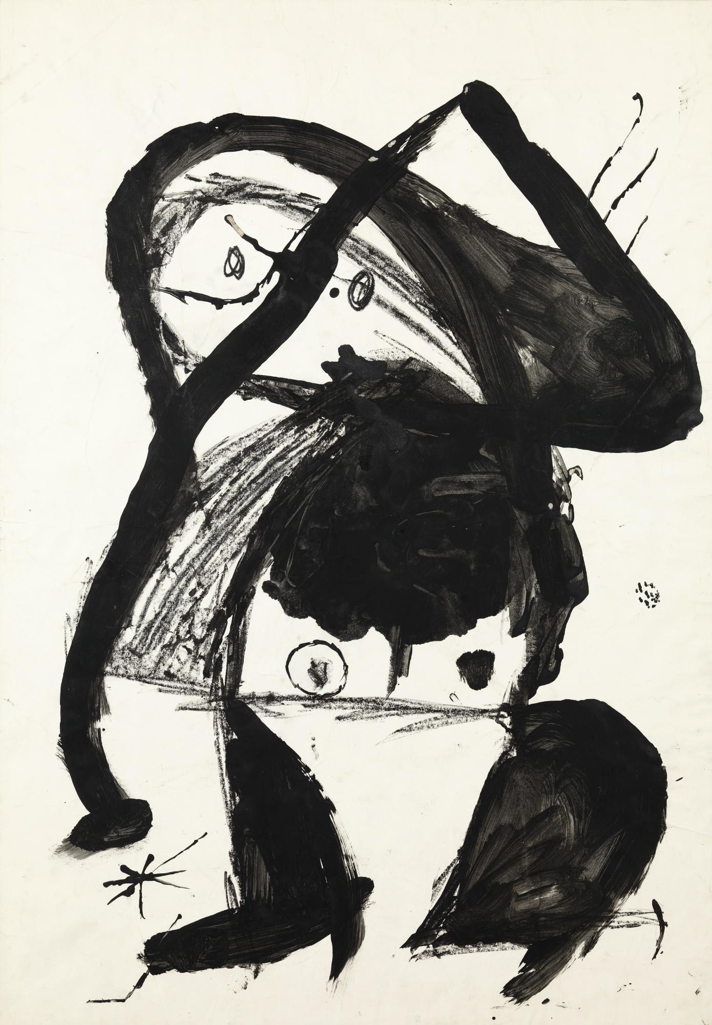 Joan Miro-Projet Preparatoire Pour La Lithographie El Gorafre-1979