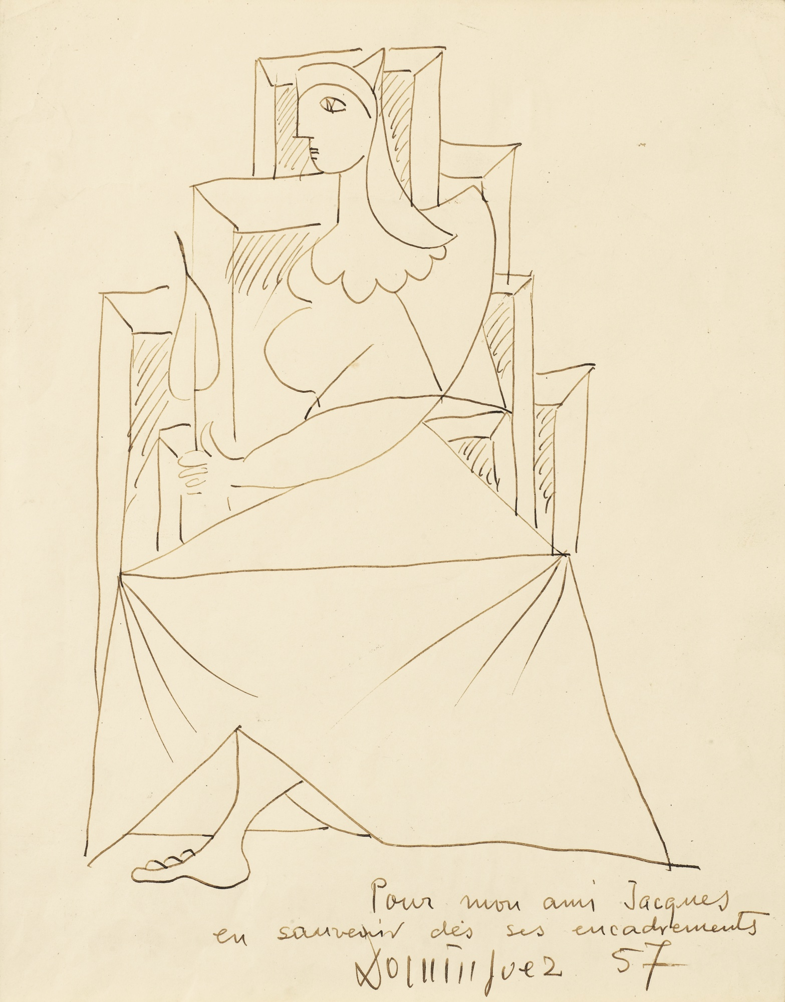 Oscar Dominguez-Seated Woman-1957