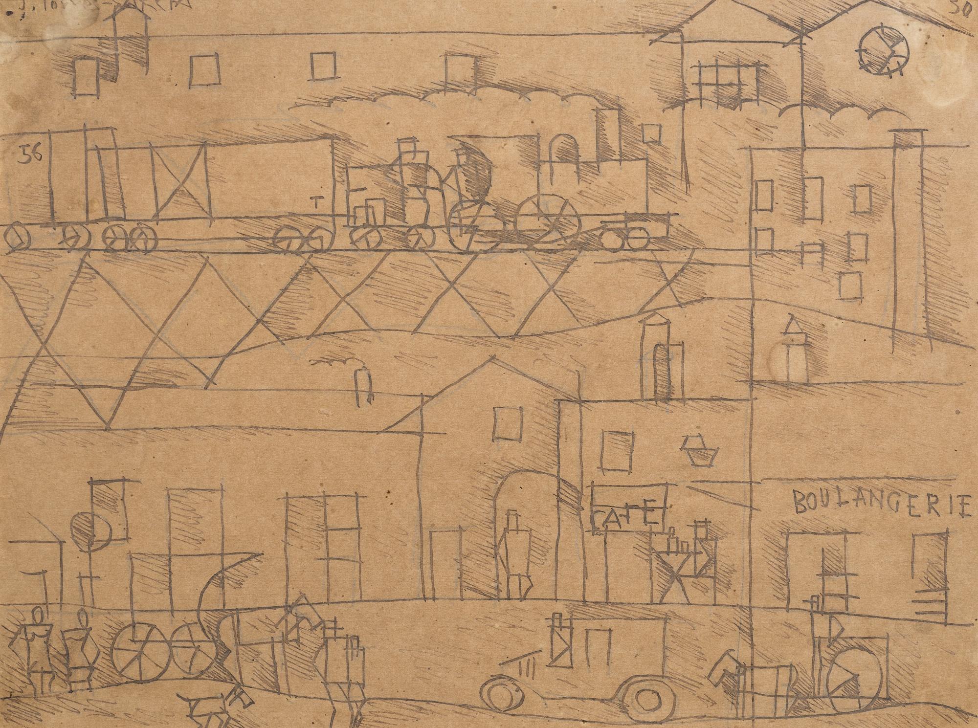 Joaquin Torres-Garcia-La Gare-1930