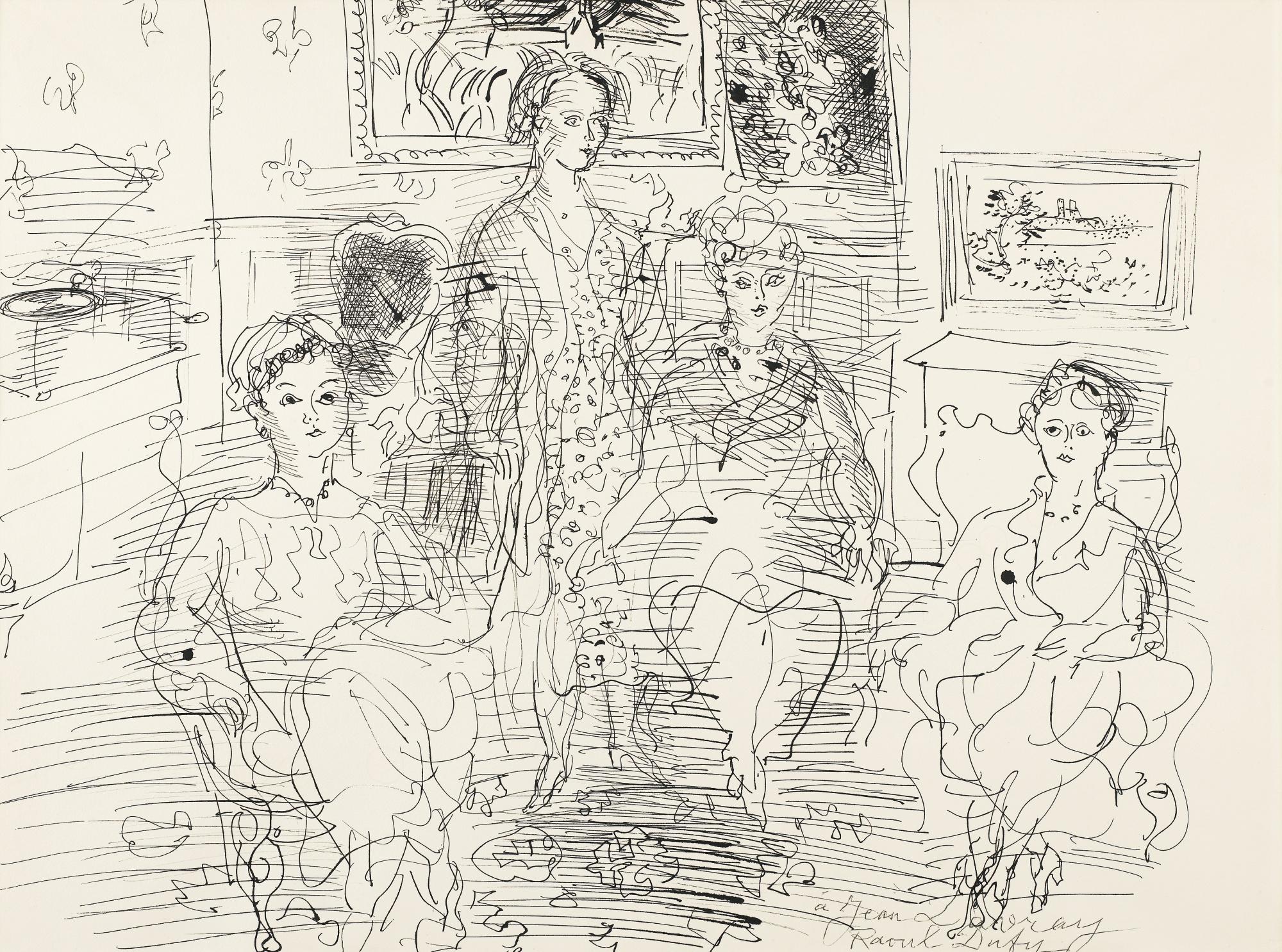 Raoul Dufy-Quatre Femmes Au Salon-1932