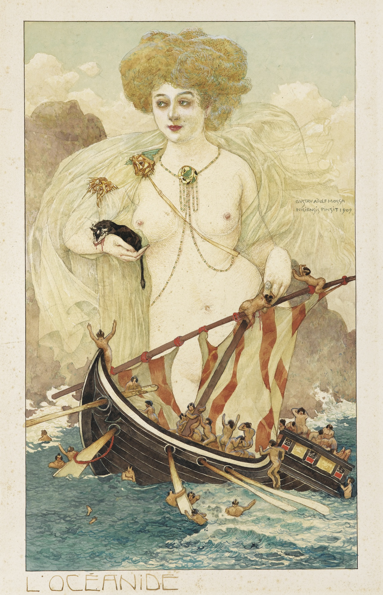 Gustav-Adolf Mossa-Sea Nymph-