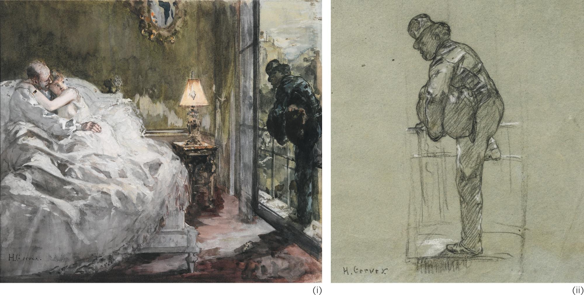 Henri Gervex-(I) The Burglar (Ii) Study For The Burglar-
