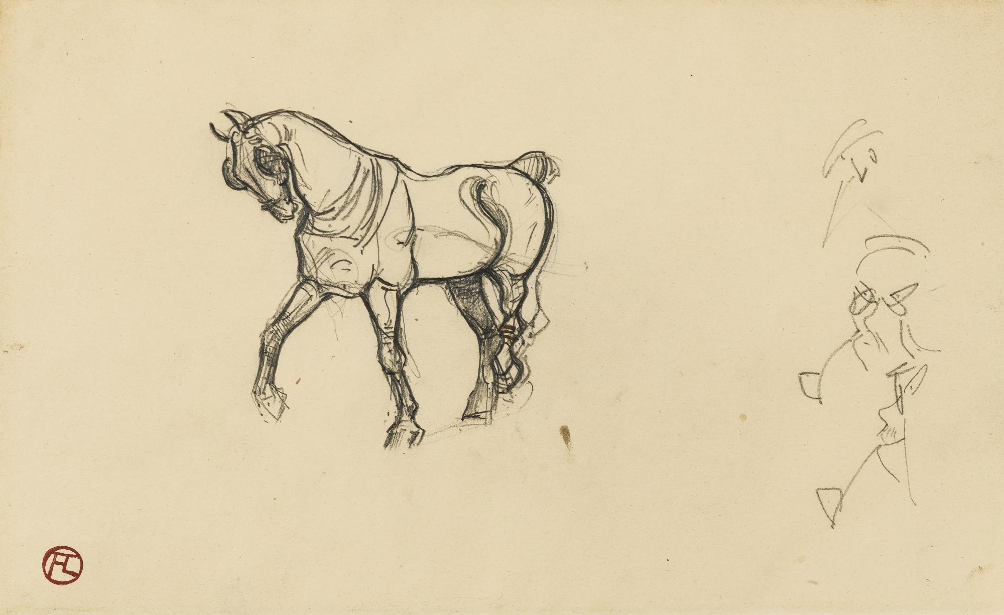 Henri de Toulouse-Lautrec-Cheval - Recto Cheval - Verso-1881