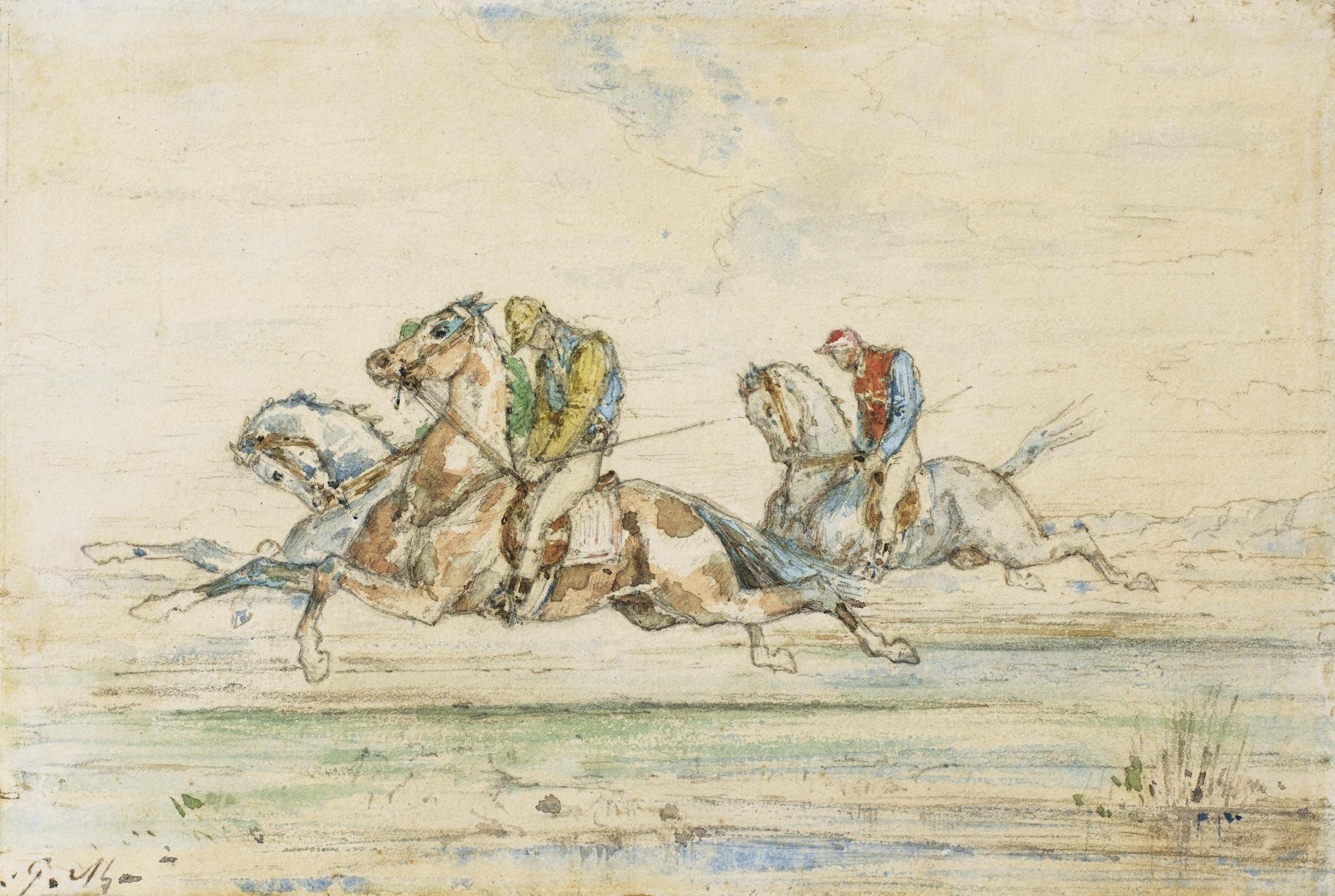 Gustave Moreau-Horse Race With Jockey-