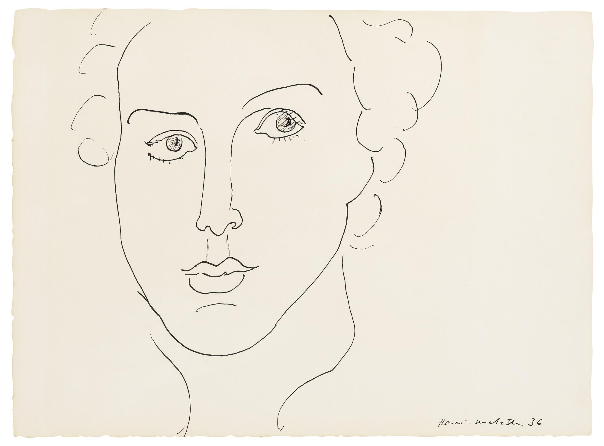 Henri Matisse-Portrait De Femme-1936
