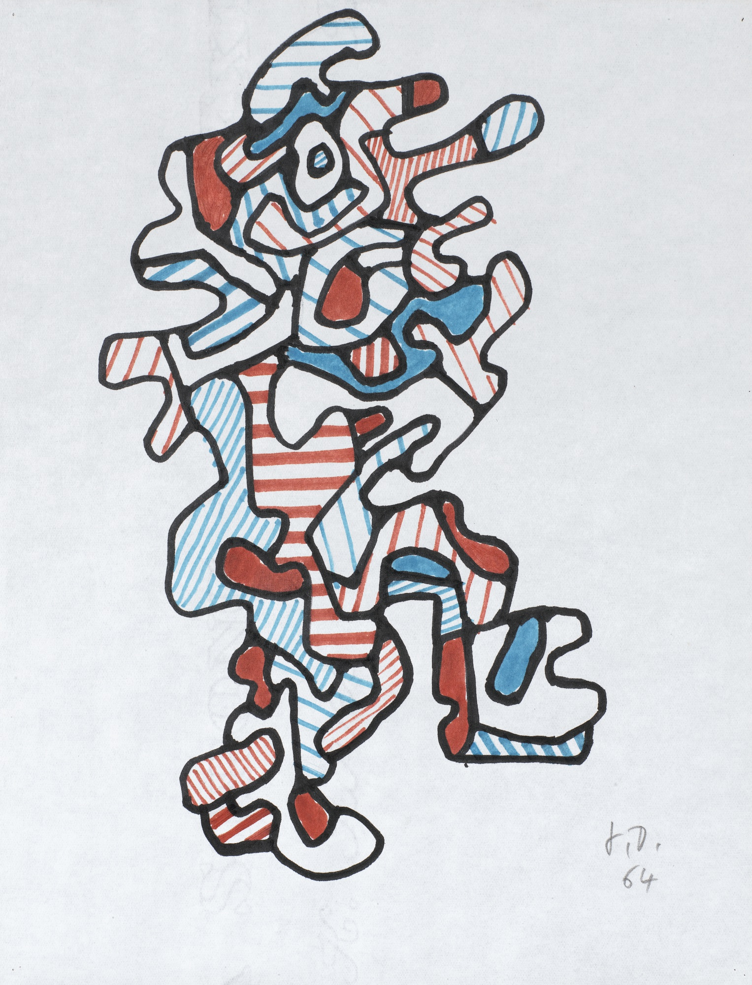 Jean Dubuffet-Personnage XIV-1964