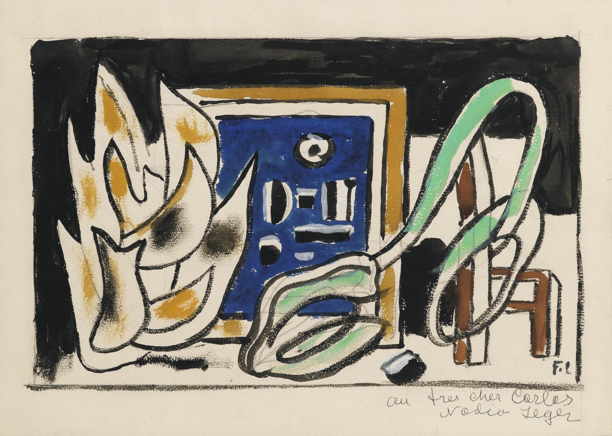 Fernand Leger-Composition A La Branche-1927