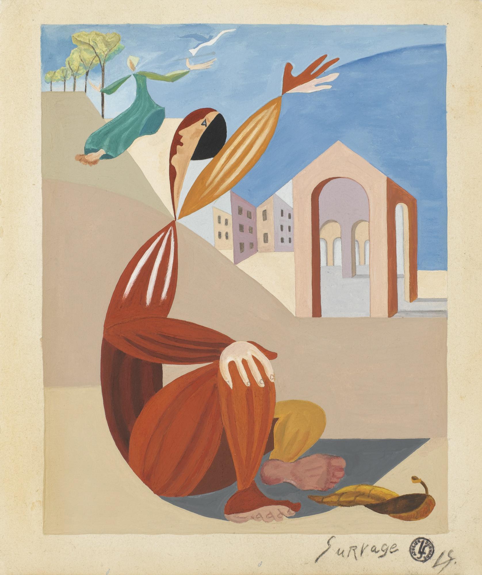 Leopold Survage-Etude Pour L'Envol-1941