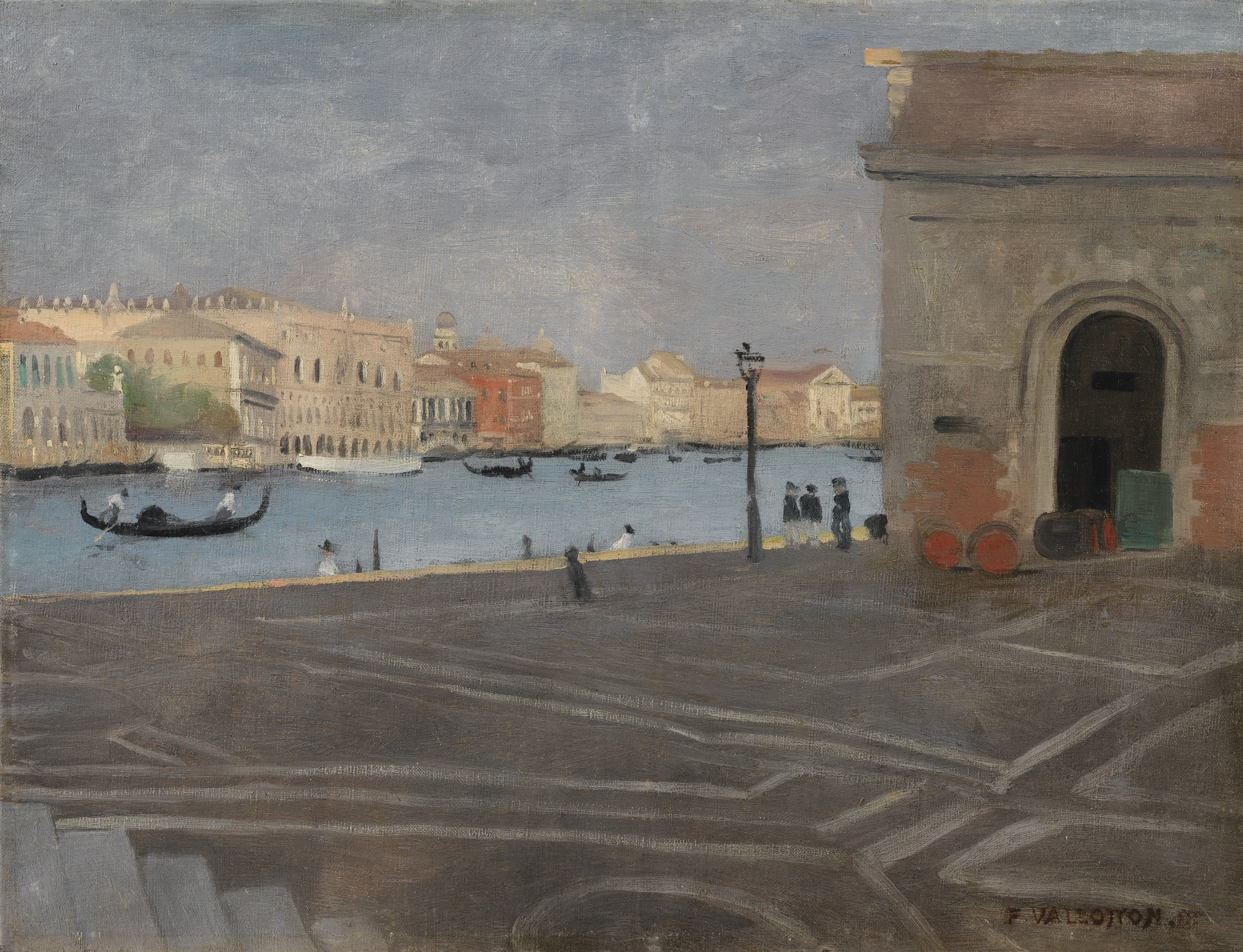 Felix Vallotton-Venise, L'Ancienne Douane Et Le Grand Canal-1902