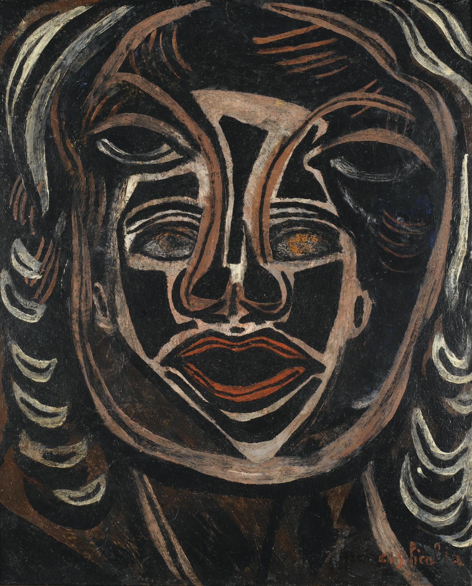 Francis Picabia-Les Deux Masques-1938
