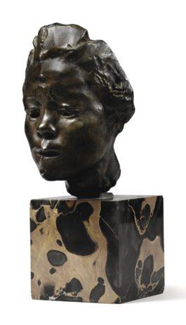 Auguste Rodin-Masque D'Hanako, Etude Type A, Moyen Modele (Variante Avec Arriere Evide)-1925