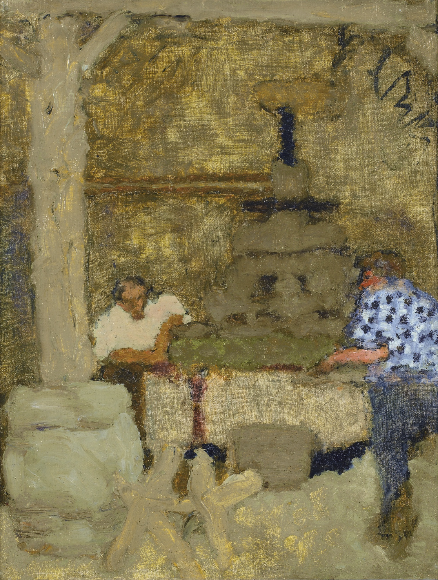 Pierre Bonnard-Le Pressoir Au Grand-Lemps-1893