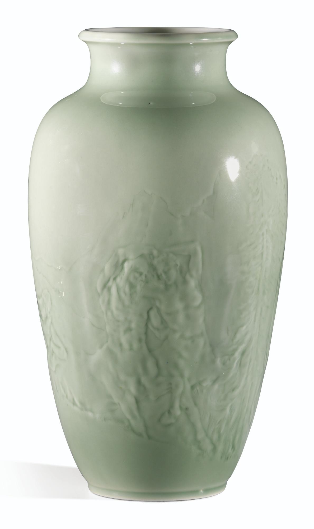 Auguste Rodin-Manufacture De Sevres And Auguste Rodin - Vase Saigon: Les Centaures-1934