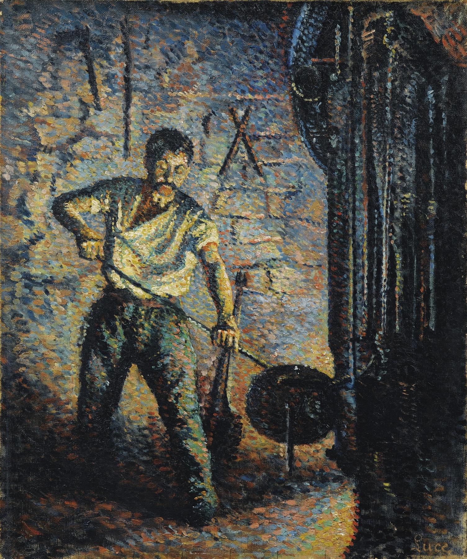 Maximilien Luce-Souffleur De Verre-1890