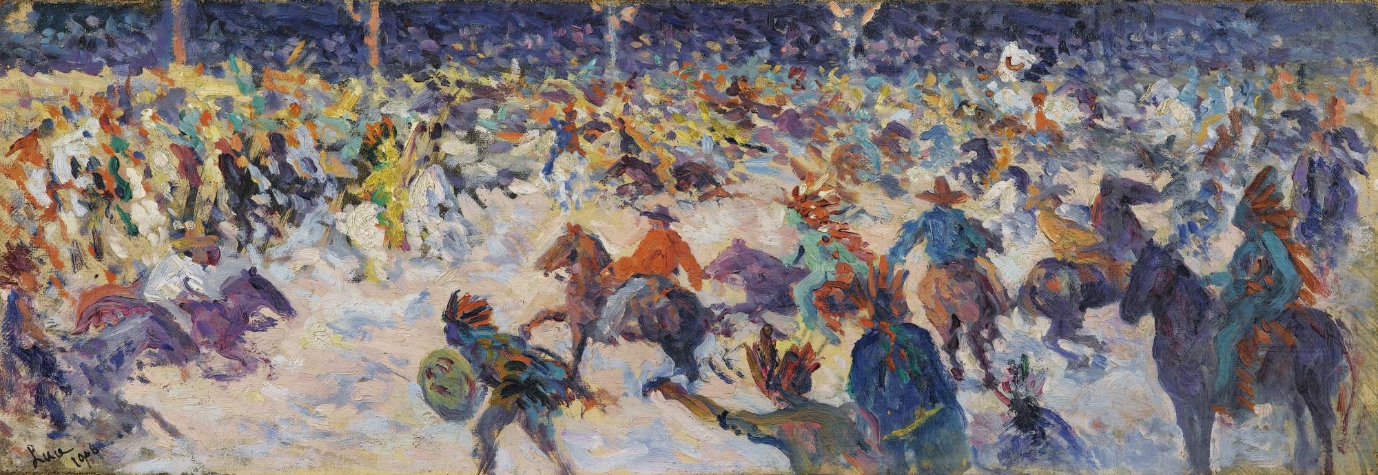 Maximilien Luce-Le Cirque De Buffalo Bill-1906