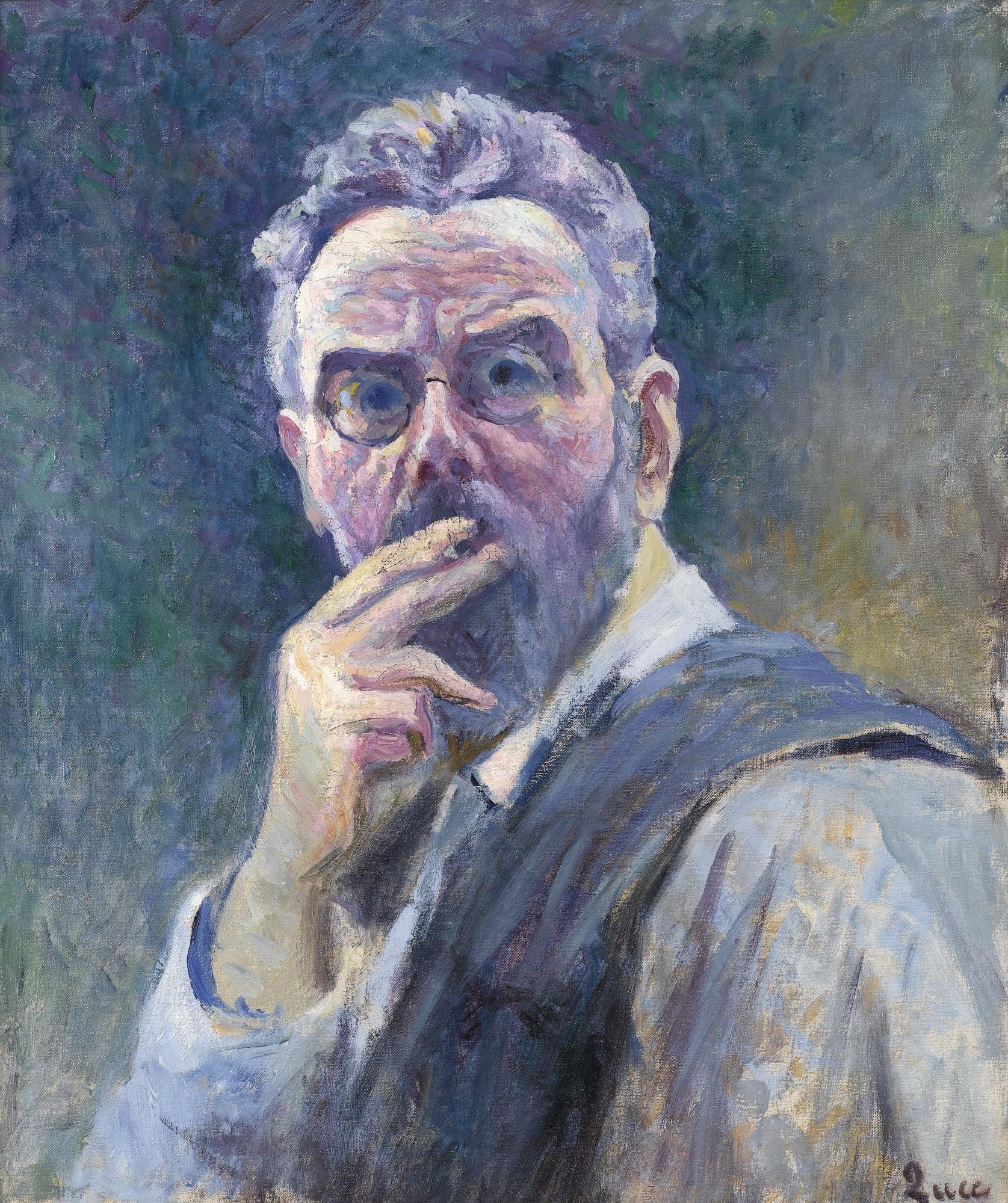 Maximilien Luce-Autoportrait A La Cigarette-1905