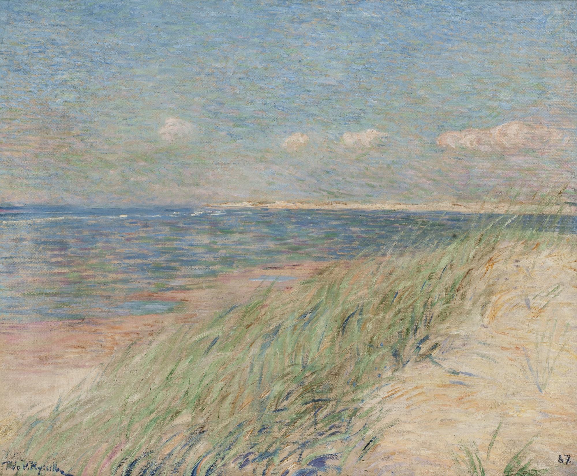 Theo van Rysselberghe-Les Dunes De Zwin, Knokke-1887