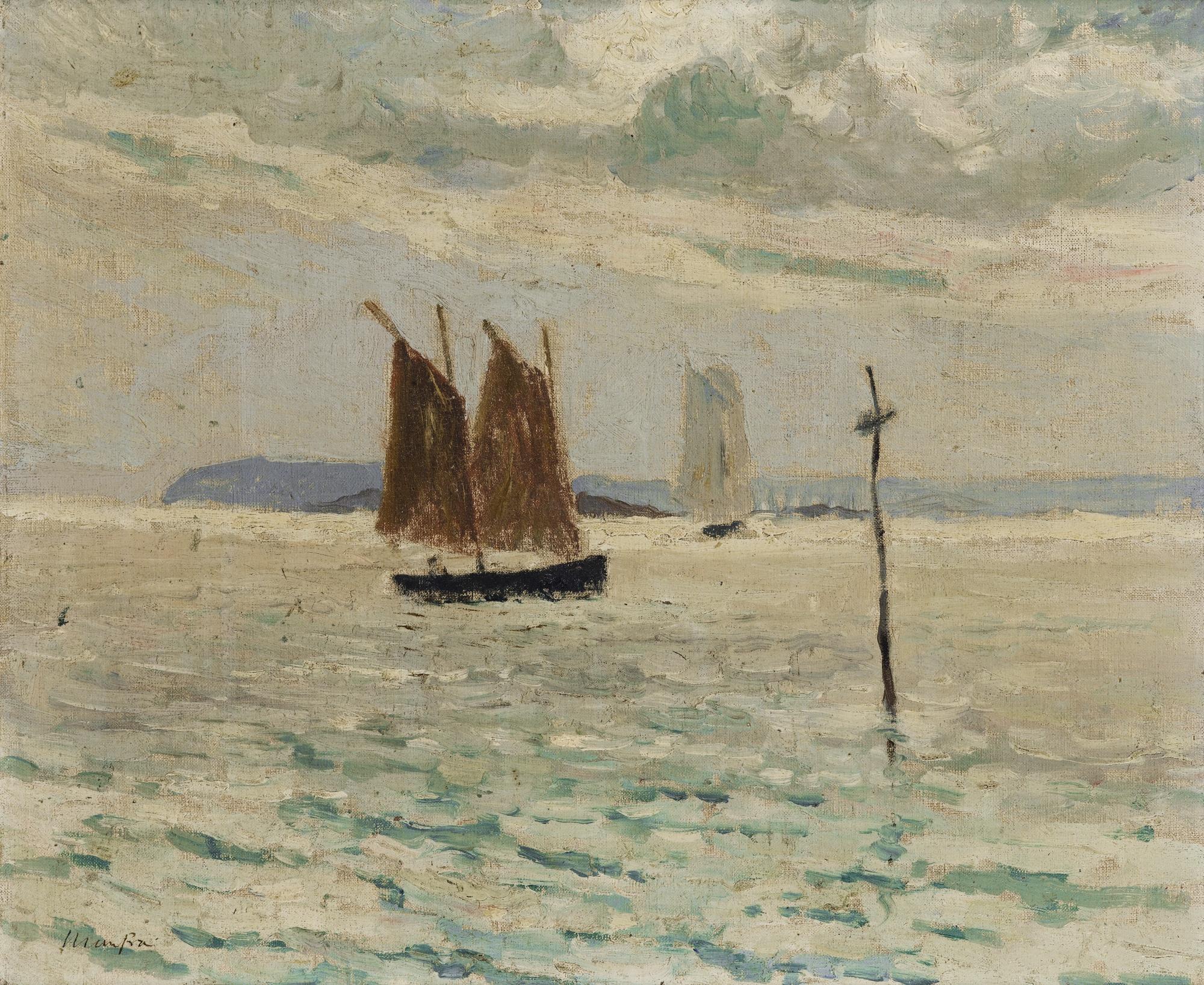 Maxime Maufra-Voilier En Mer-1897
