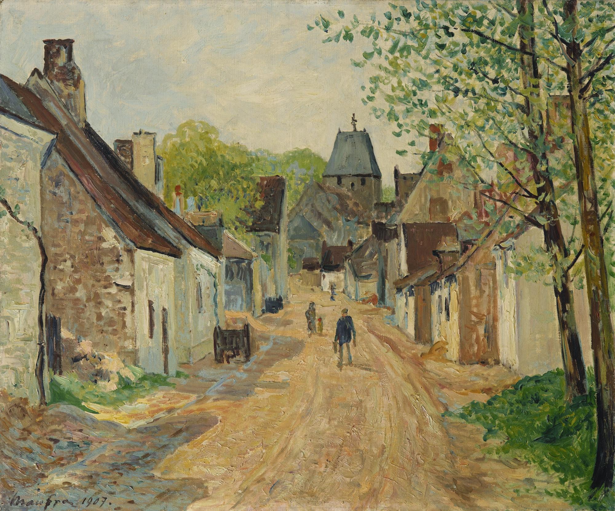 Maxime Maufra-L'Entree Du Bourg De Lavardin-1907