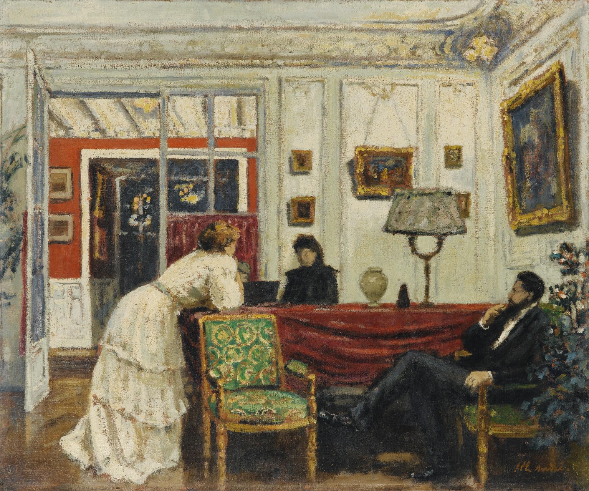 Albert Andre-La Visite-1899