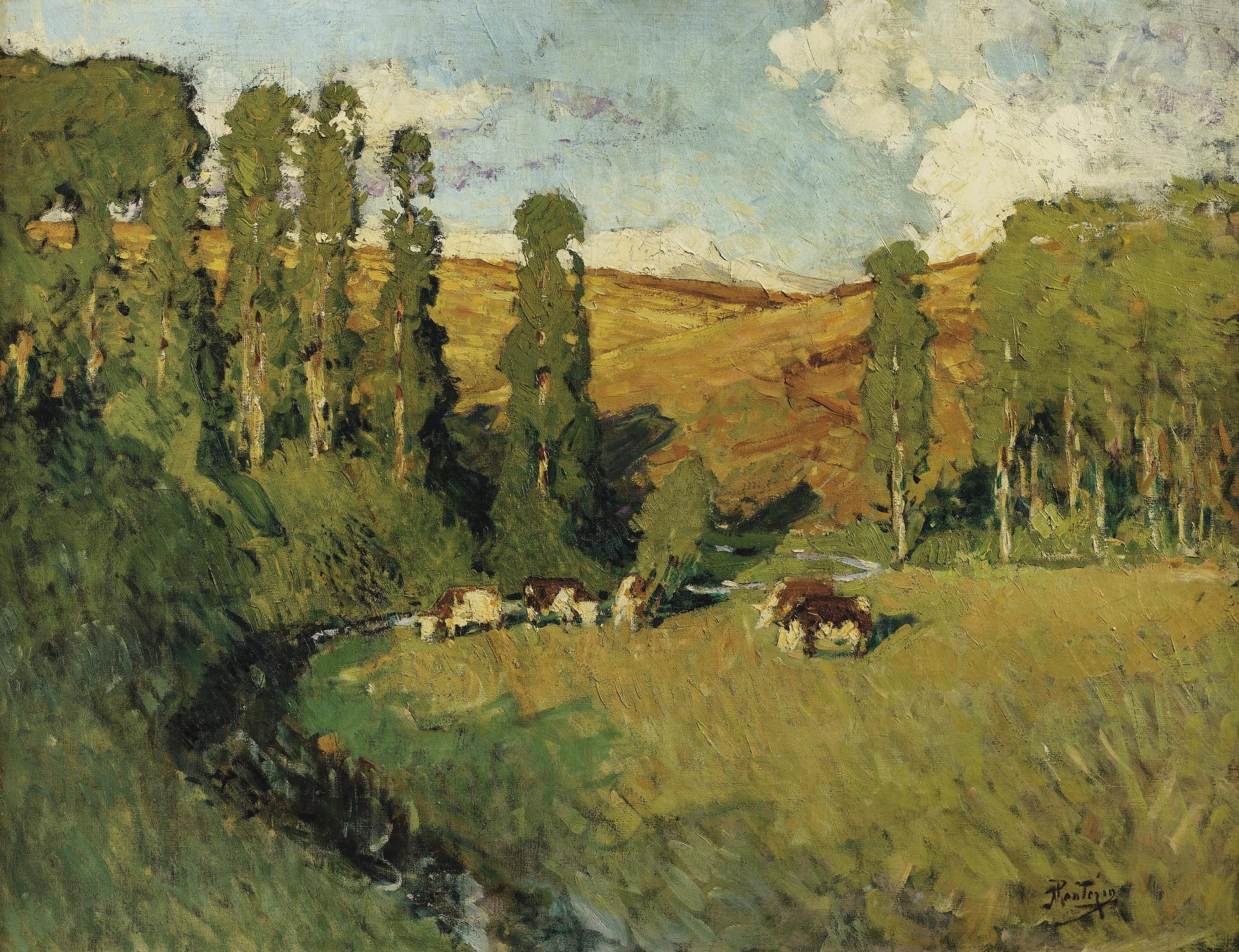 Pierre Eugene Montezin-Paysage En Creuse-