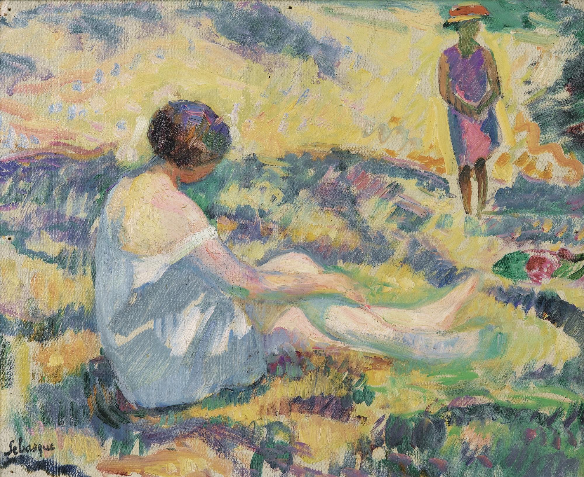 Henri Baptiste Lebasque-Jeunes Filles Dans Un Paysage-