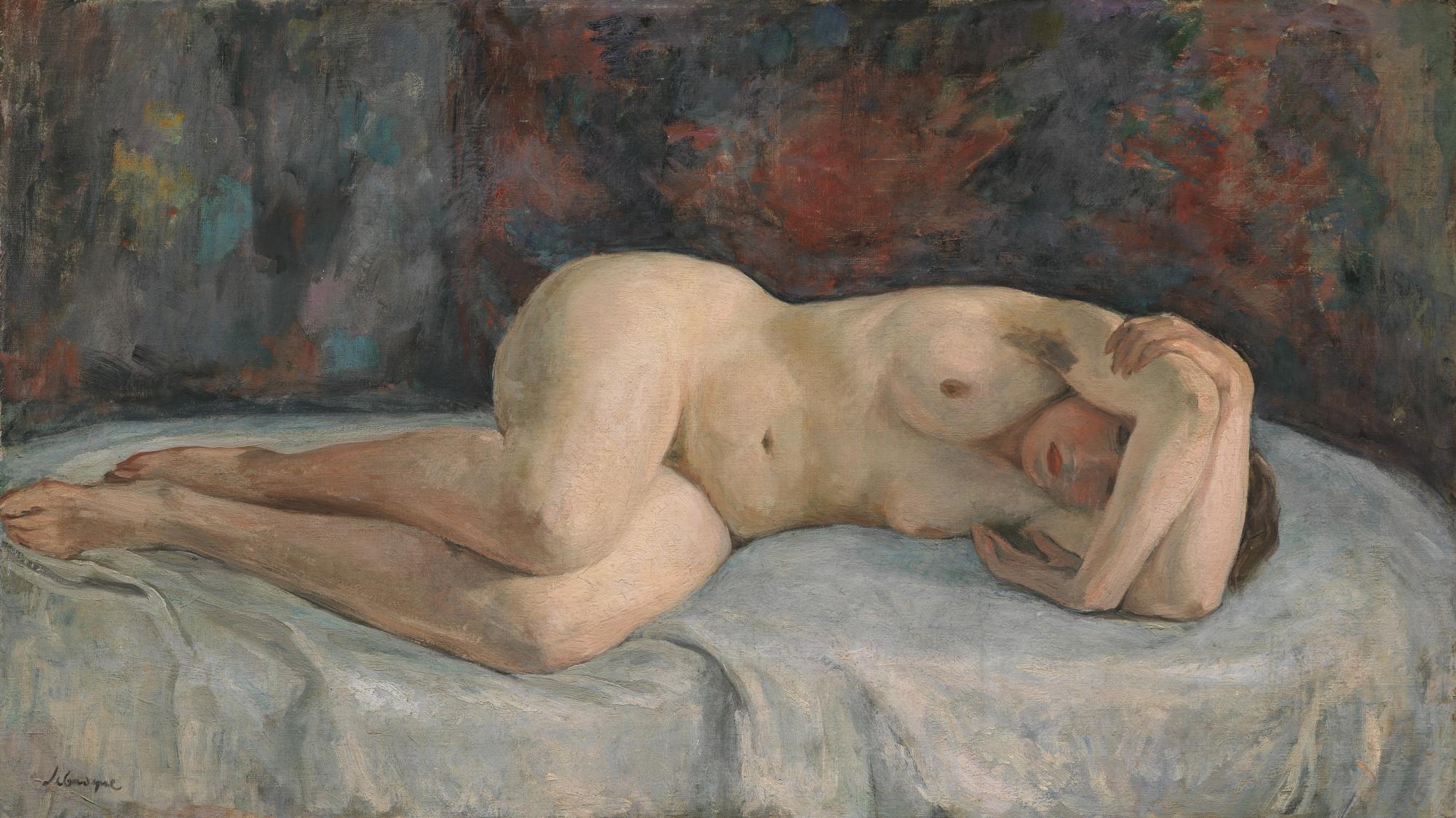 Henri Lebasque-Nu Allonge, Les Bras Croises-1926