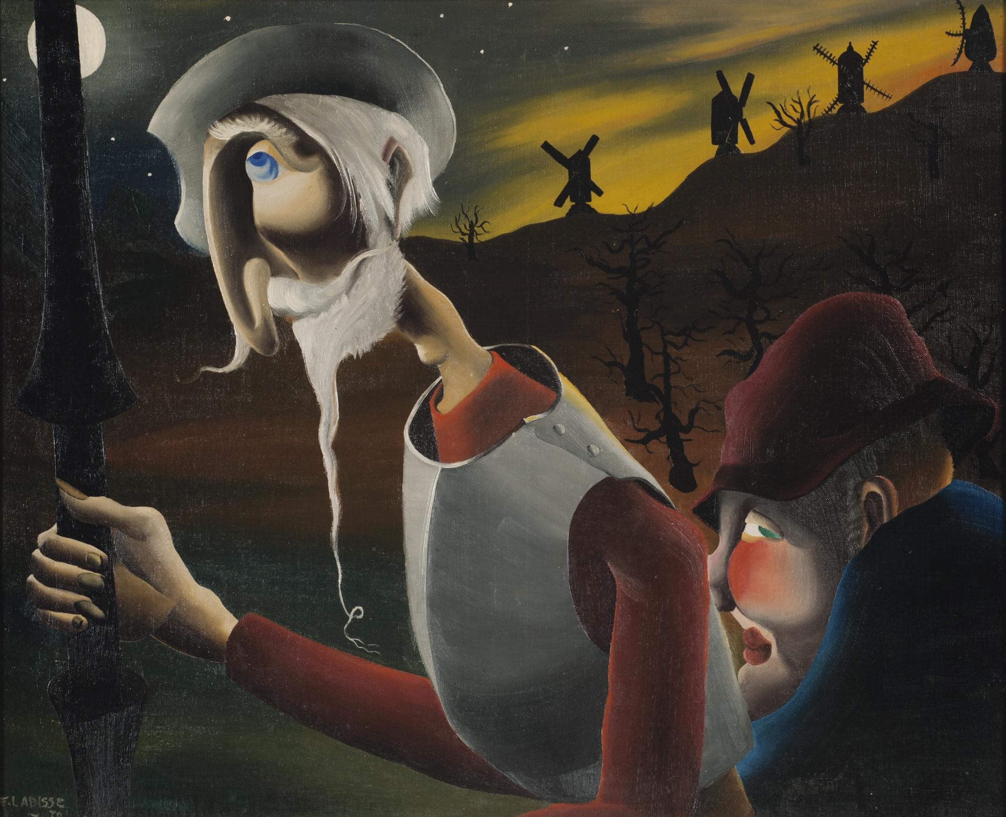 Felix Labisse-Don Quichotte Et La Lune-1930