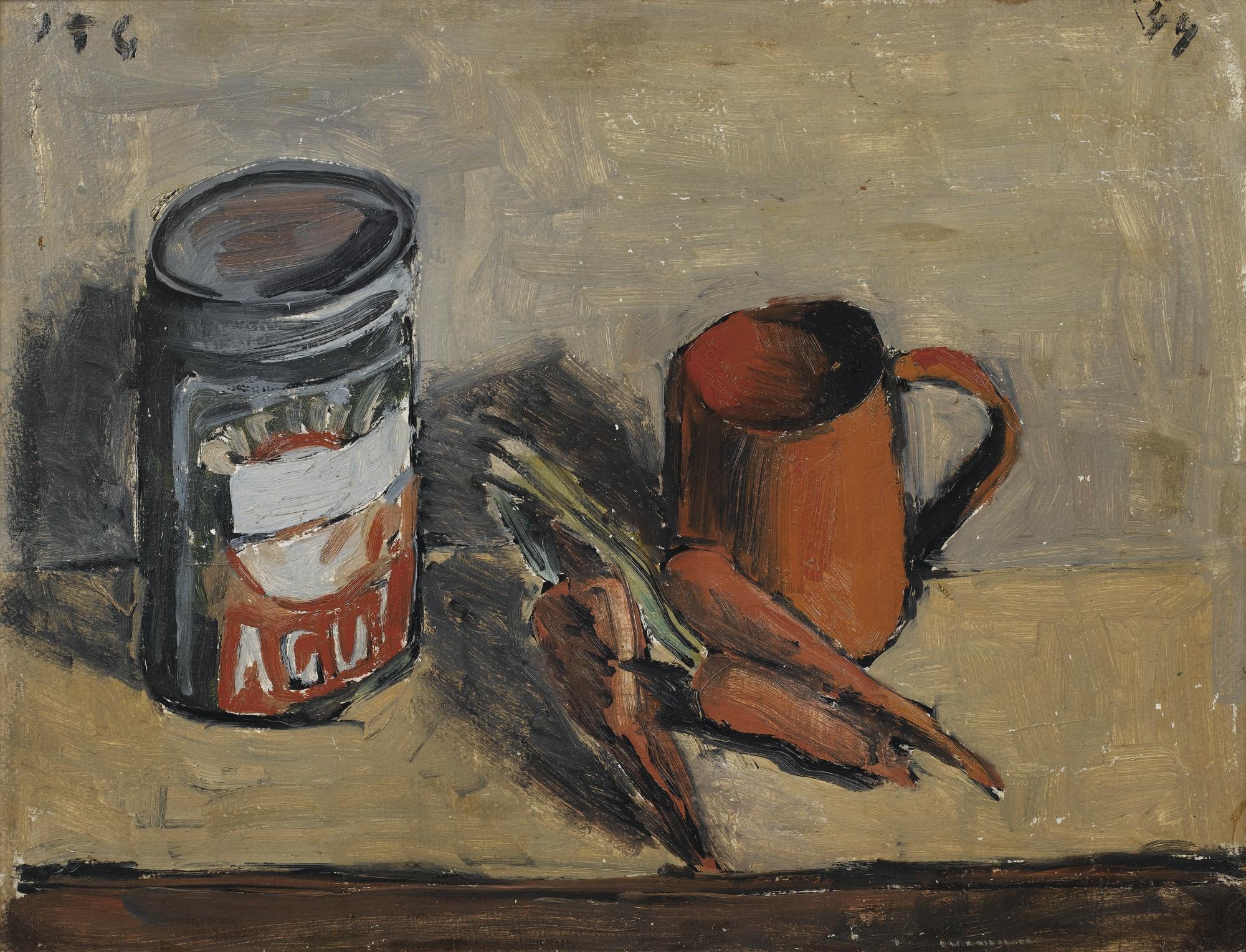 Joaquin Torres-Garcia-Bodegon Con Zanahorias-1944
