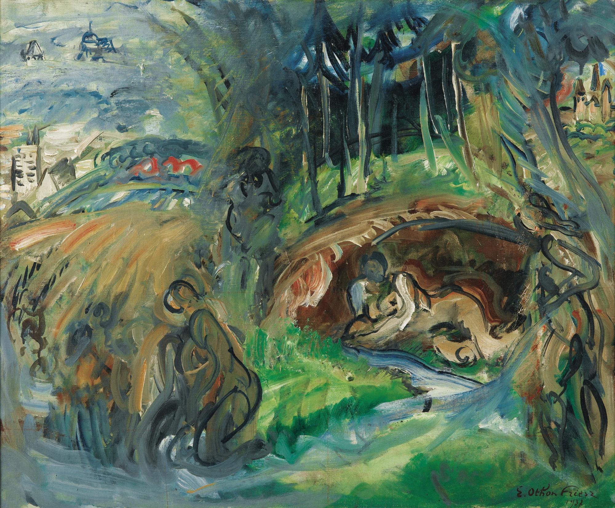 Othon Friesz-Esquisse Pour: La Seine, Sa Source Et Ses Affluents, L'Yonne, La Marne-1937