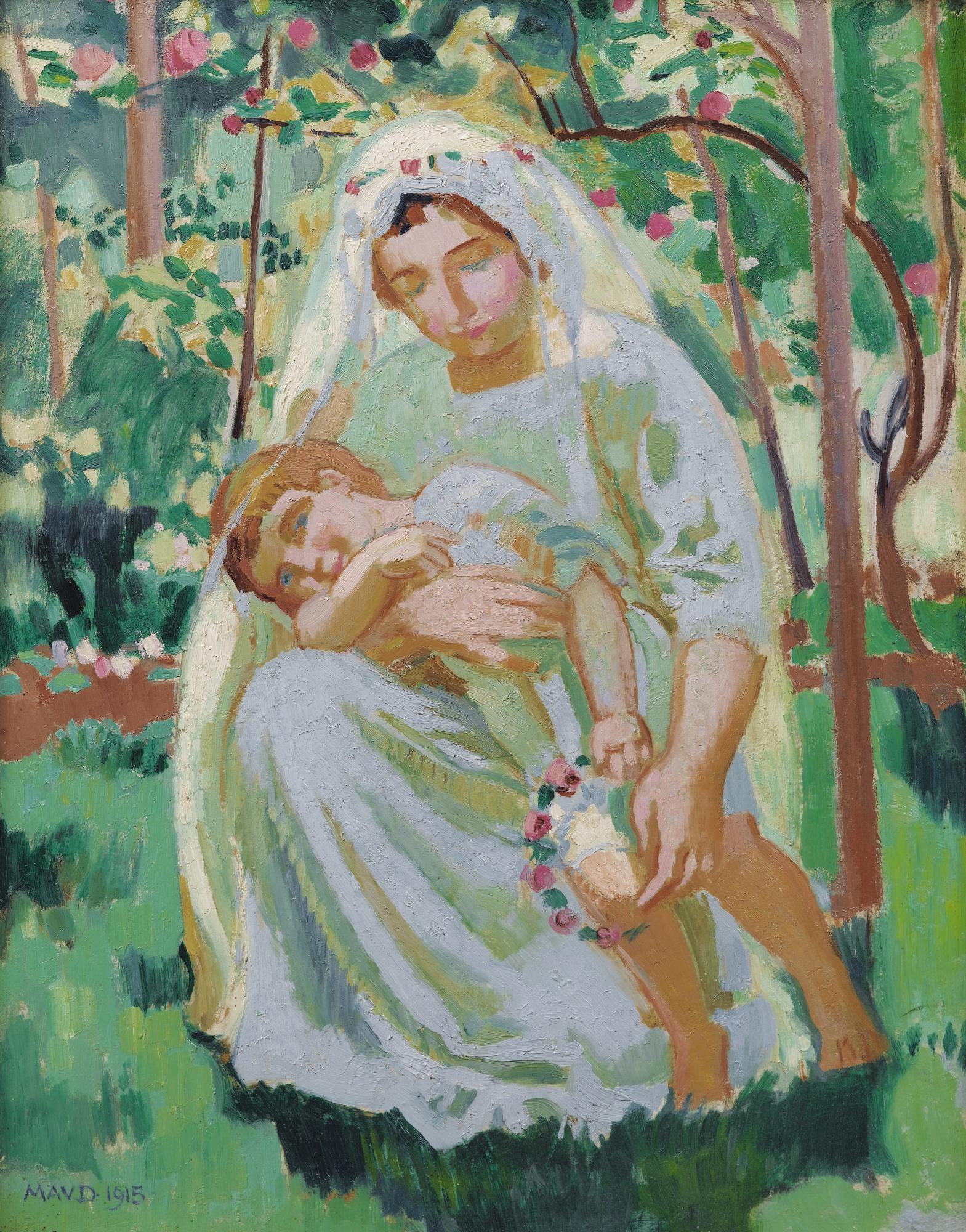 Maurice Denis-Maternite Ensoleillee-1915
