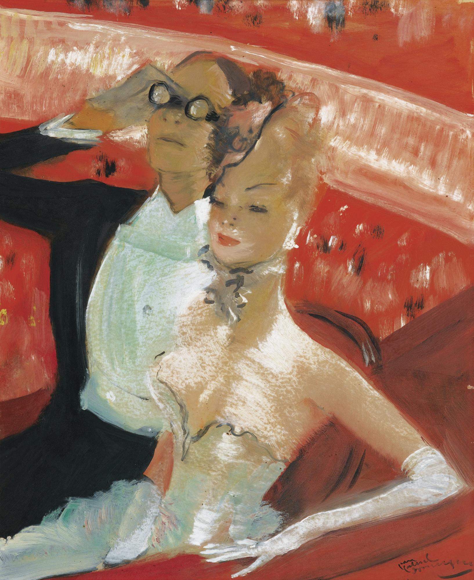 Jean-Gabriel Domergue-La Loge A L'Opera-1950