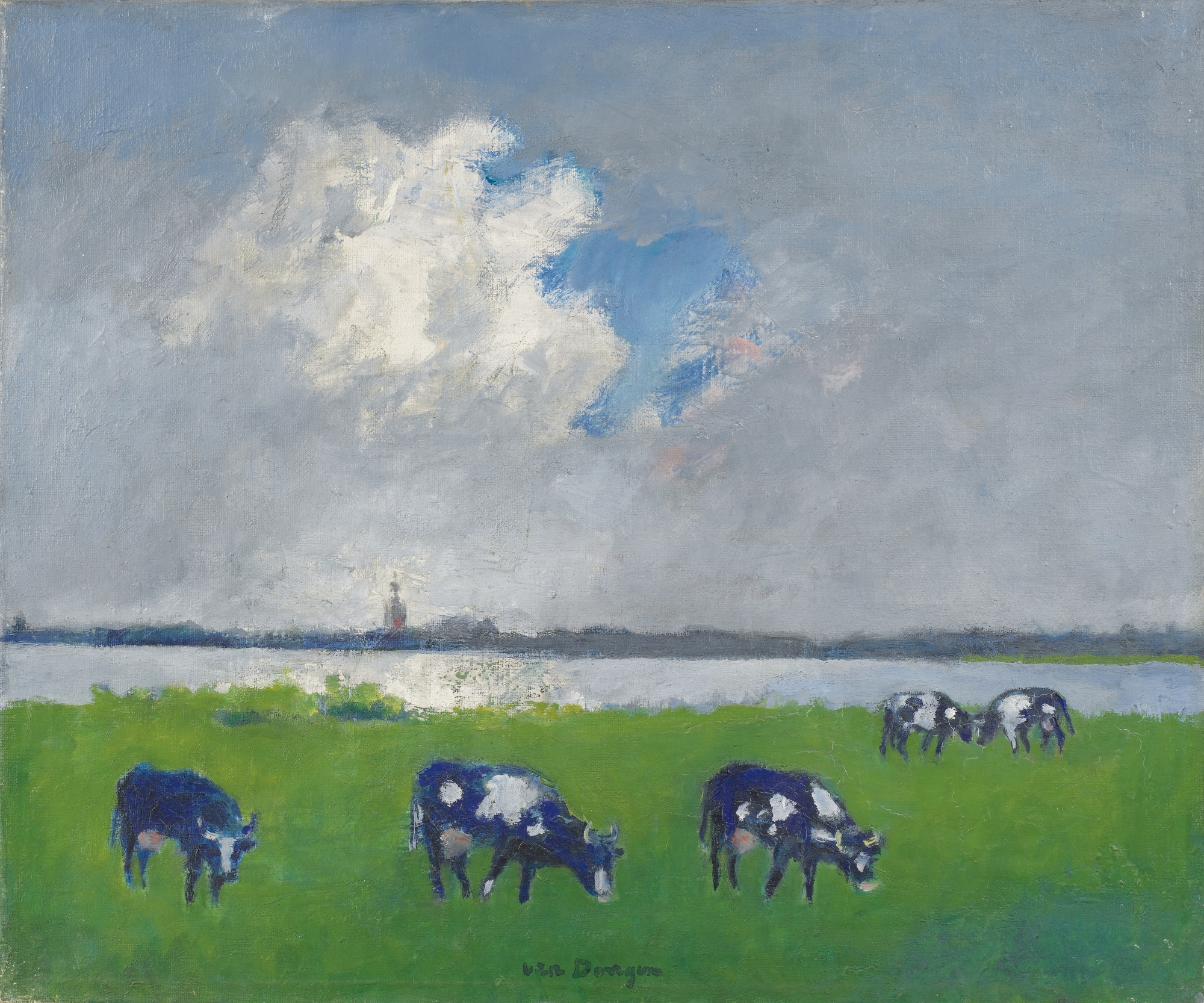 Kees van Dongen-Paysage Rural En Hollande-1949