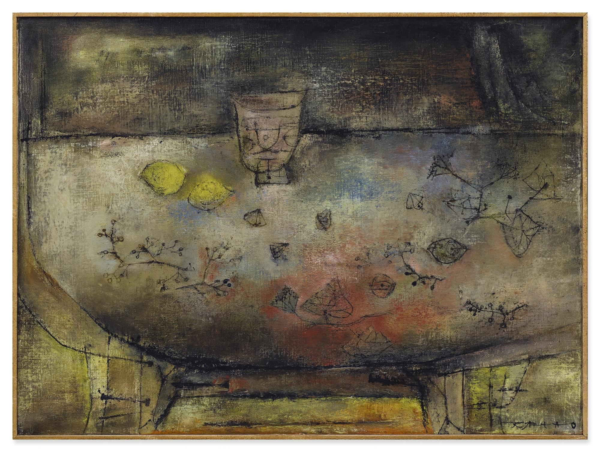 Zao Wou-Ki-Nature Morte Sur Une Table Ronde-1953