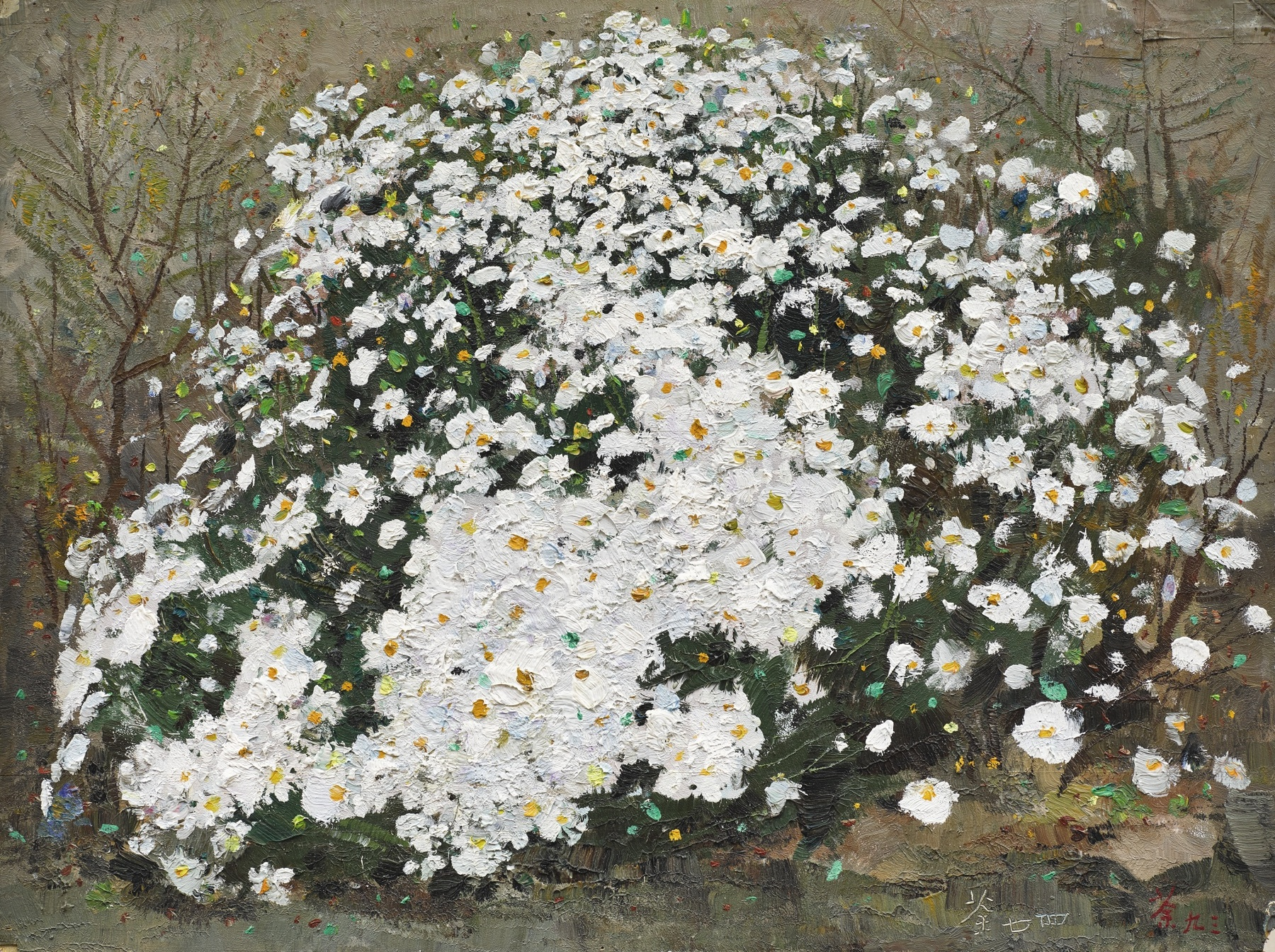 Wu Guanzhong-Field Chrysanthemums-1993