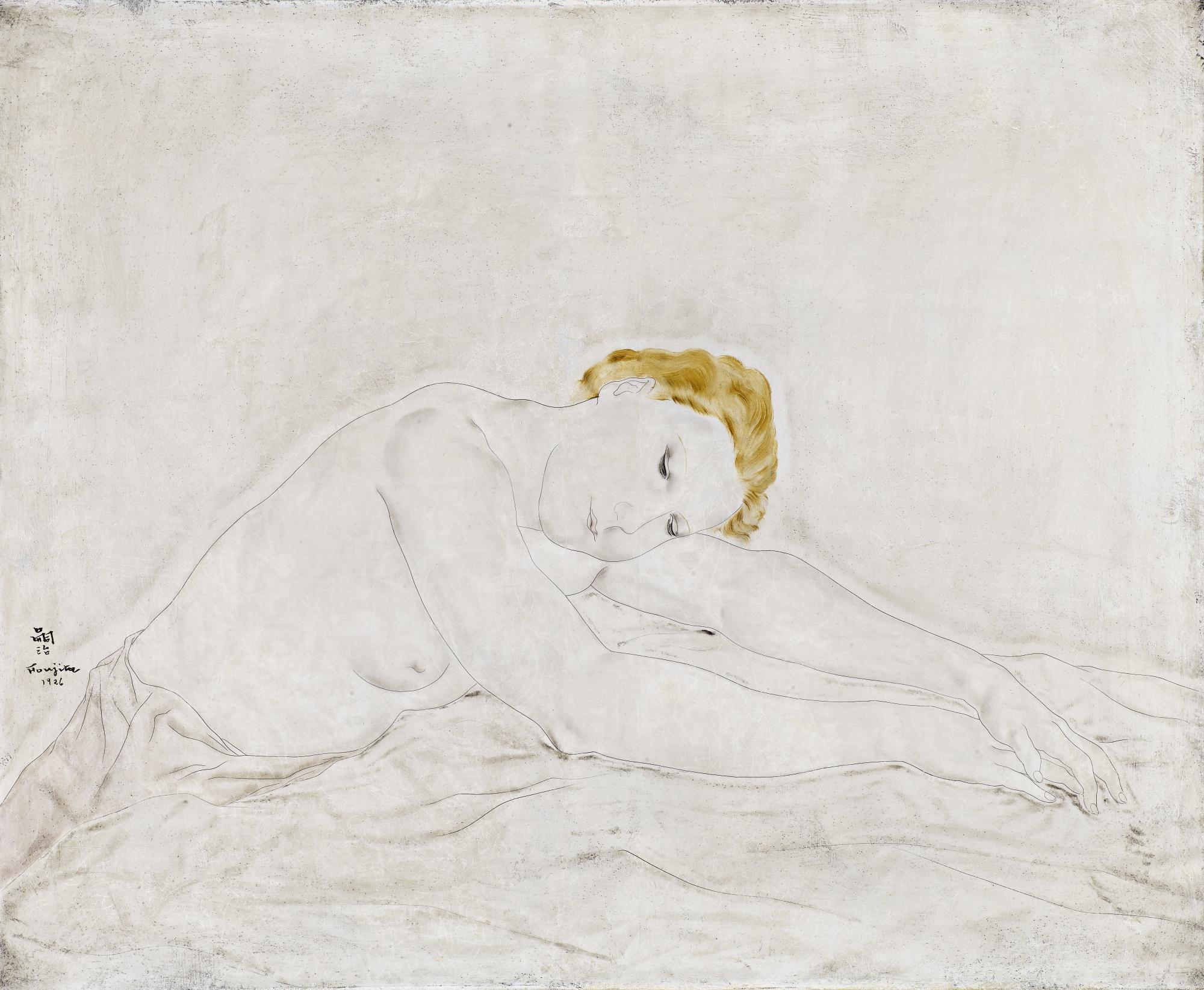 Tsuguharu Foujita-Nu Assoupi, Youki-1926