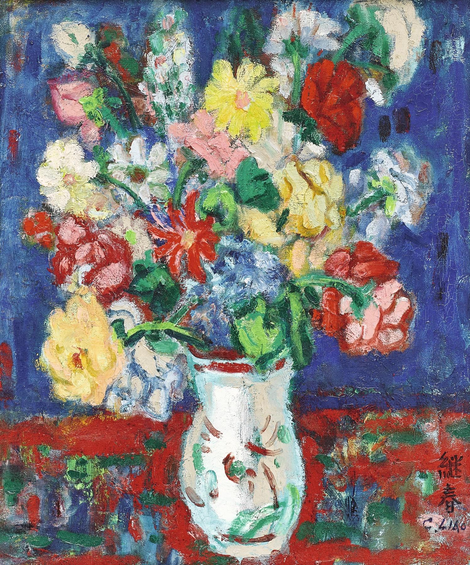 Liao Chi-chun-Flowers-1967