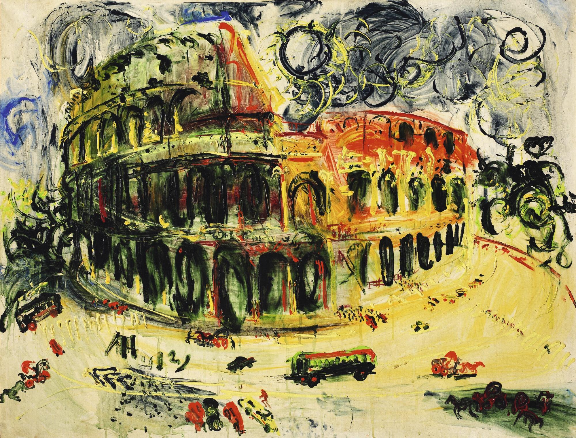 Affandi-Colosseum, Roma (Colosseum, Rome)-1972