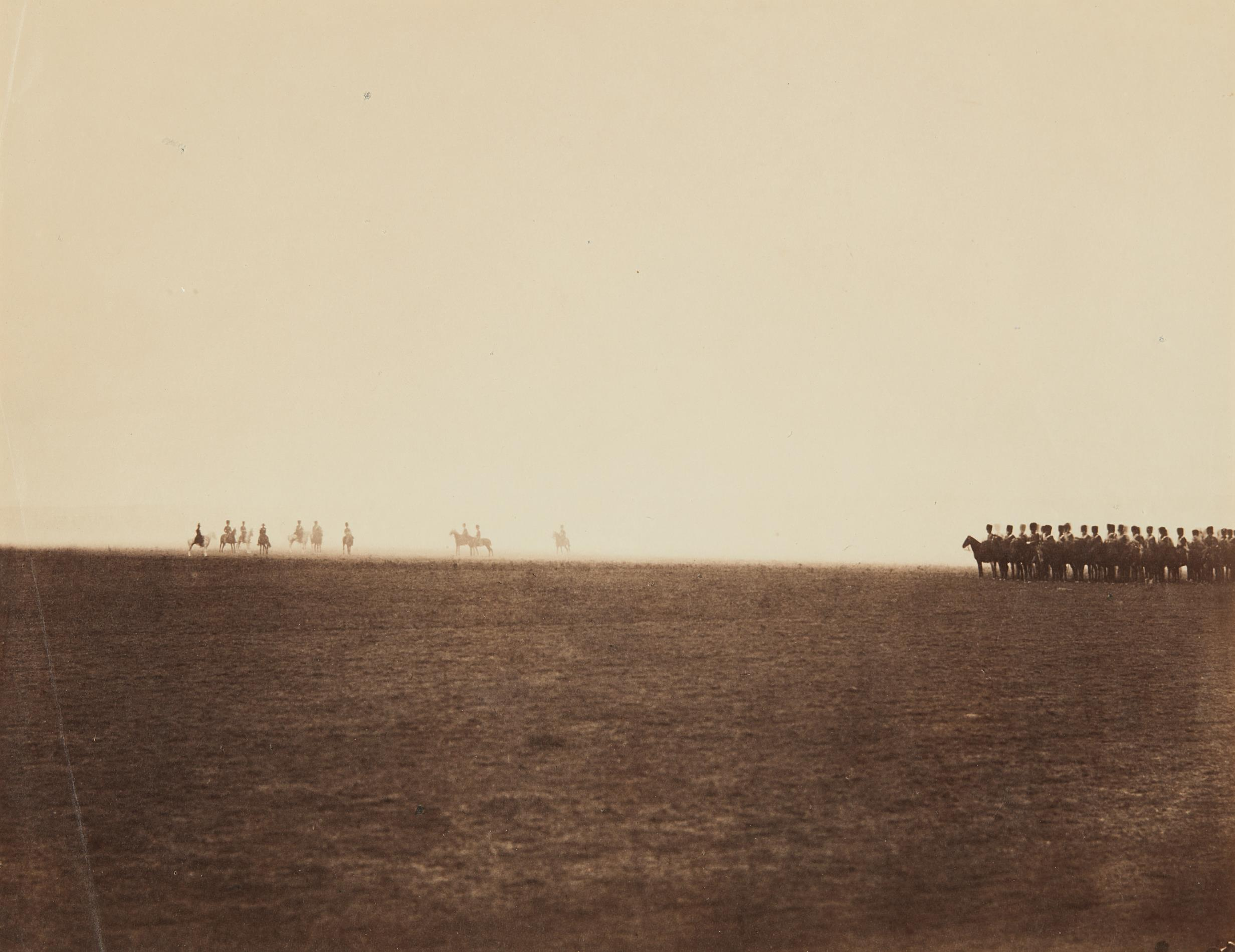 Gustave Le Gray-Cavalry Maneuvres, Camp de Chalons-1857