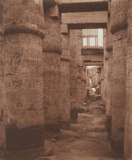 Felix Teynard-Karnak (Thebes), Palais - Salle Hypostyle - Vue Transversale Prise du Point K-1852