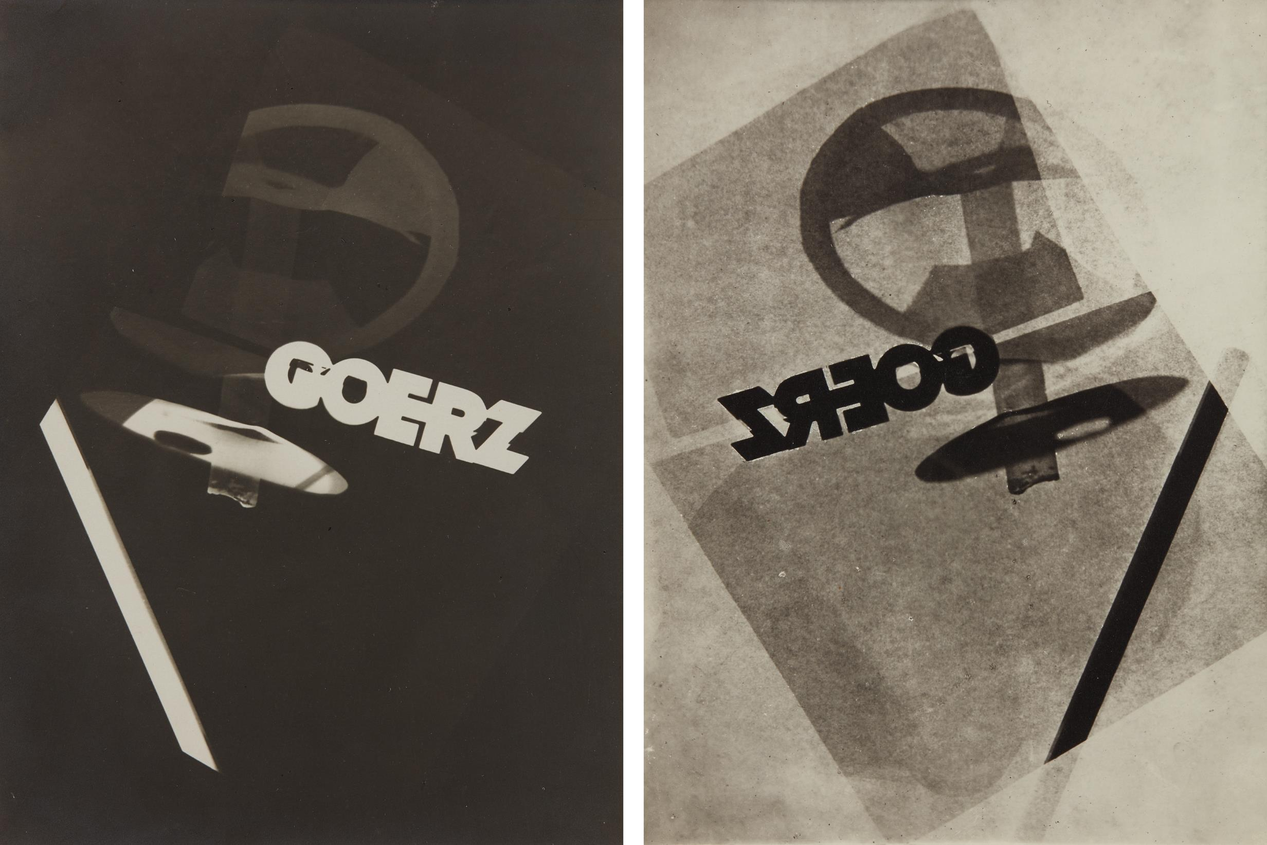 Laszlo Moholy-Nagy-Photogram studies for Goerz (negative and positive)-1925