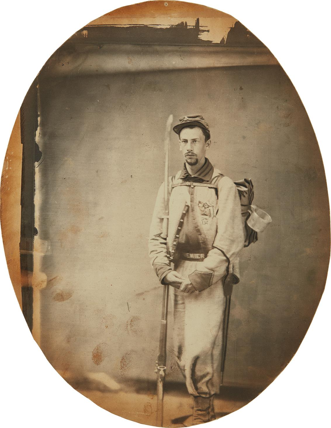 "Unknown Photographer - Portrait of Francis E. Brownell, ""Ellsworth's Avenger,"" and Portrait of an Unknown Woman-1861"
