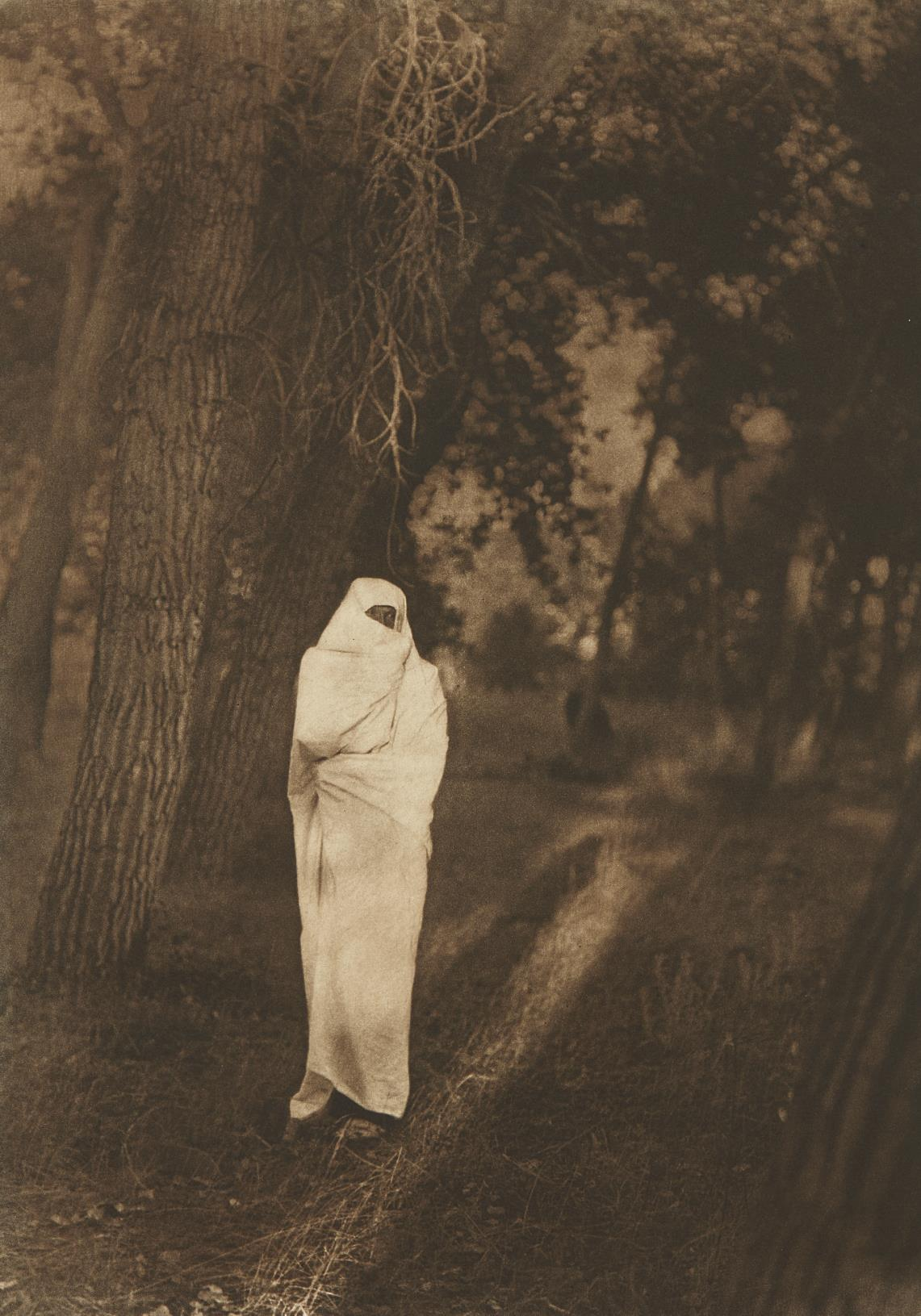 Edward S. Curtis-Waiting in the Forest, Cheyenne-1910