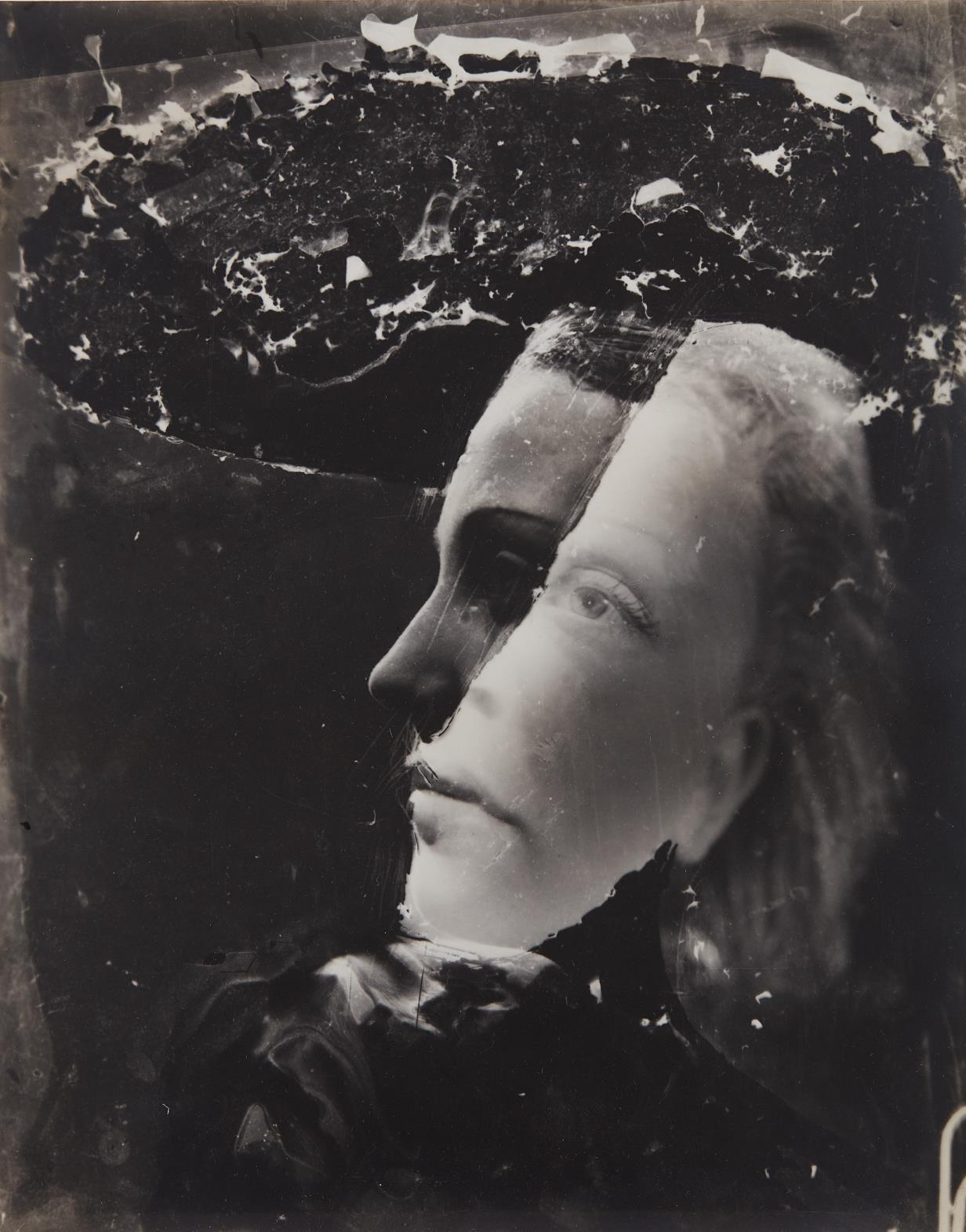 Dora Maar-Untitled (double-exposed self-portrait)-1936