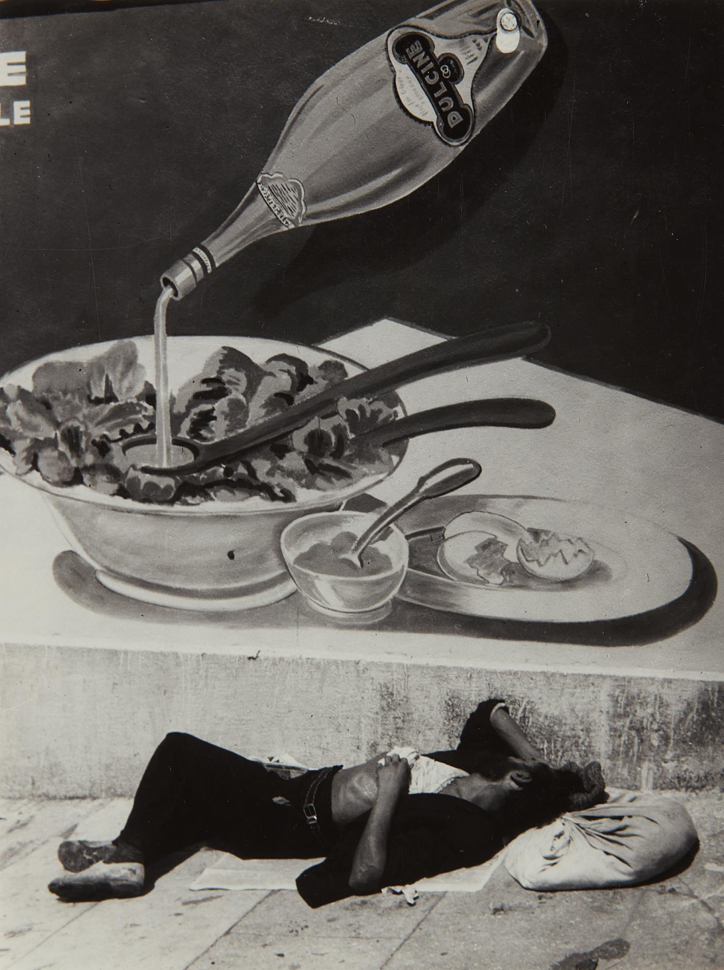 Brassai-Clochard endormi a Marseille-1935