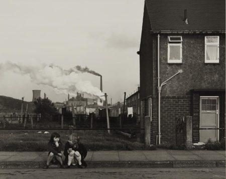 Chris Killip-Untitled (two girls on curb)-1989