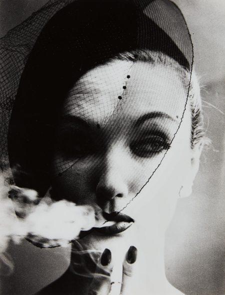 William Klein-Smoke + Veil, Paris (Vogue)-1958