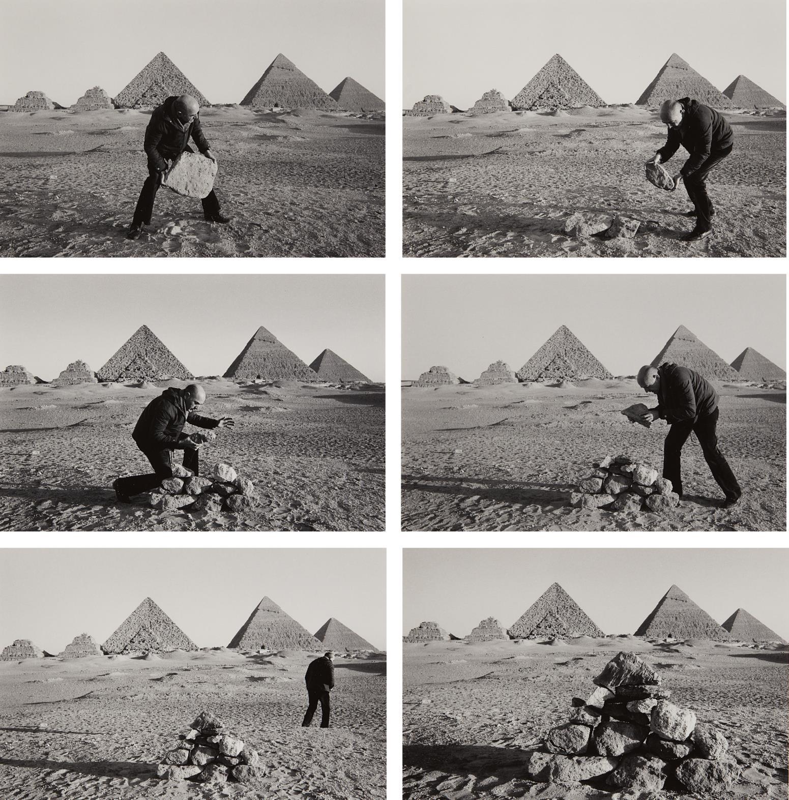 Duane Michals-I Build a Pyramid-1978