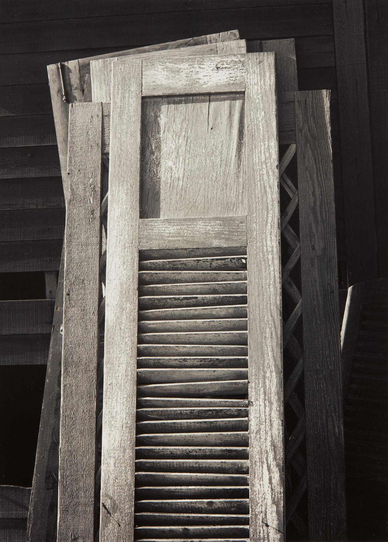 Ansel Adams-Old Doors, Columbia Farm, Los Angeles-1940