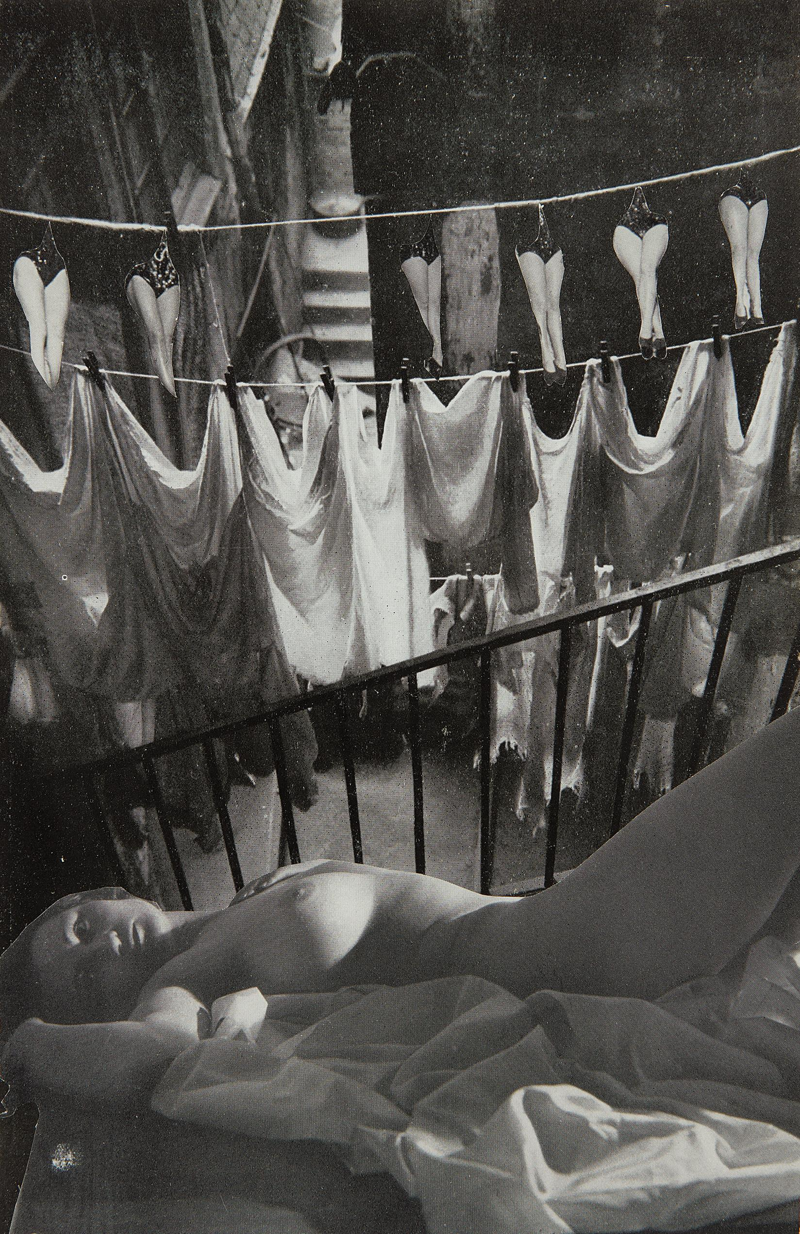 Georges Hugnet-Untitled (laundry and legs collage)-1936